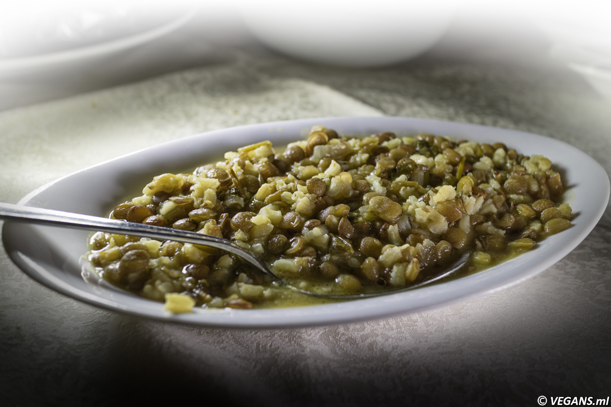The windmill Green lentils with rice