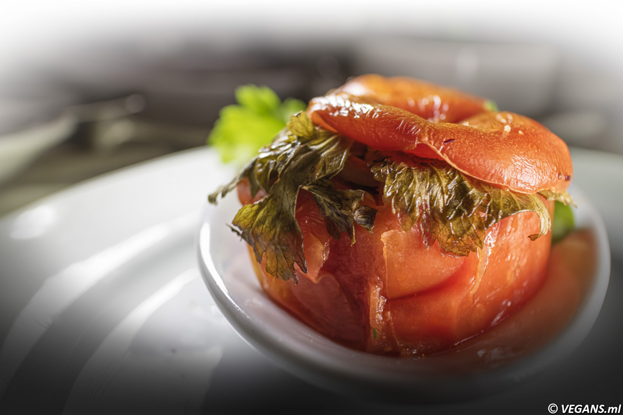 The Windmill Tomatoes Stuffed with rice and spices.
