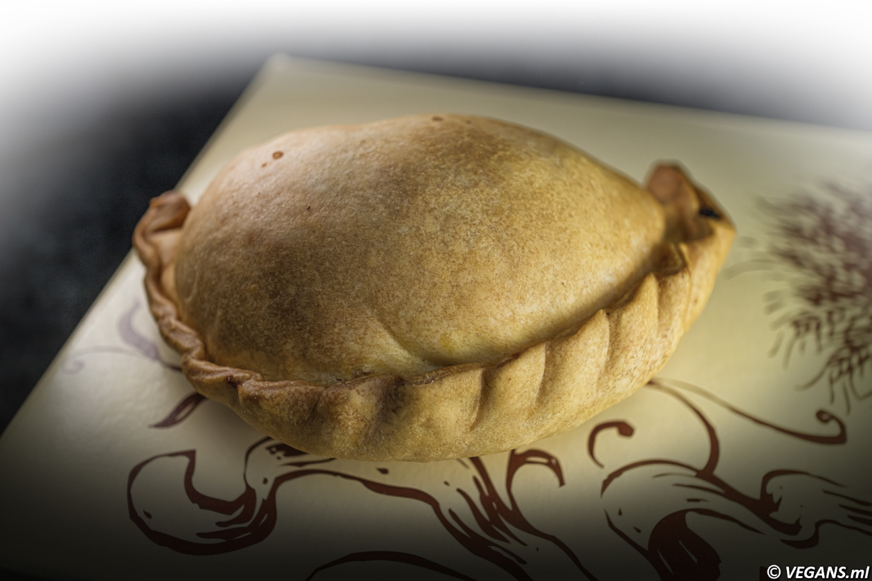 Pumpkin stuffed vegan pastry